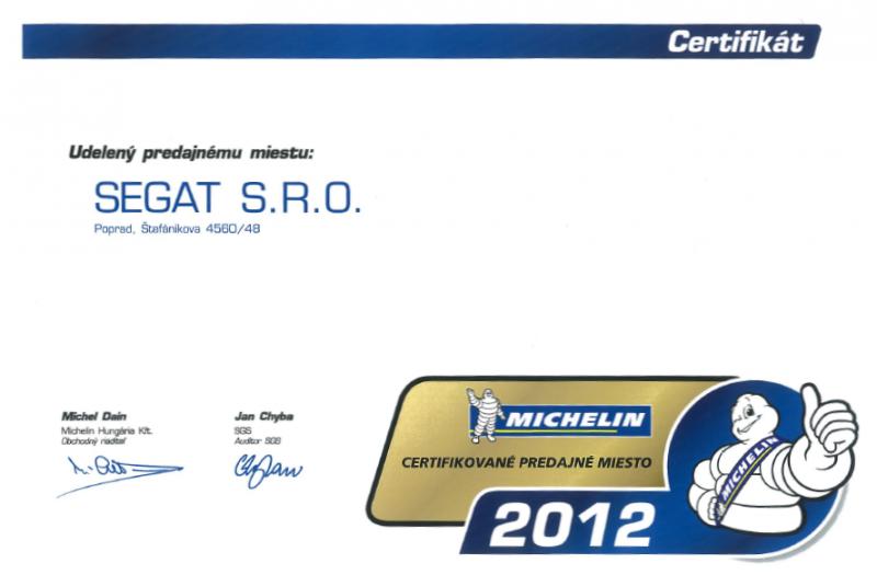 Certifikat 2012