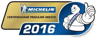 Pneucom.sk - Certifikované odberné miesto Michelin 2016