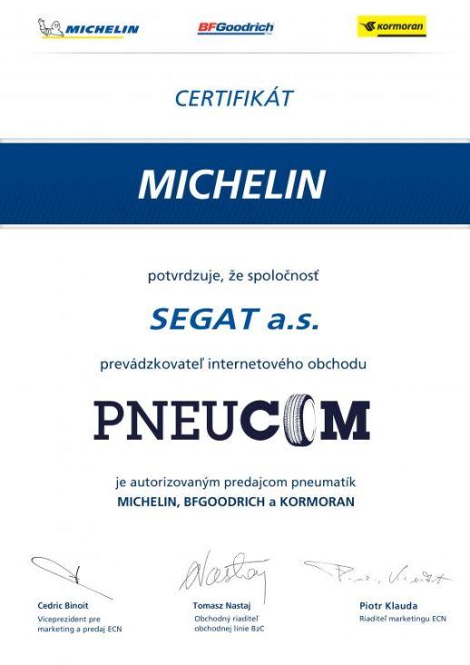 Certifikovaný predajca Michelin